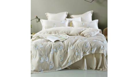 LAMINA 提阿尼 雙人100%天絲四件式兩用被套床包組