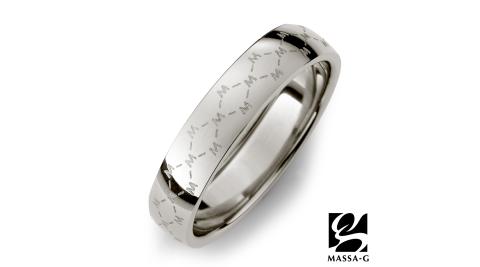 DECO X MASSA-G系列【M. Class】M04 經典LOGO純鈦戒指-銀