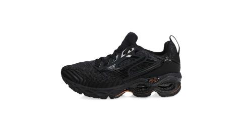 MIZUNO WAVE CREATION WAVEKNIT 2 男慢跑鞋-美津濃 黑灰棕@J1GC203309@