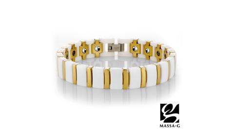 MASSA-G Deco系列《白金風華》陶瓷手環