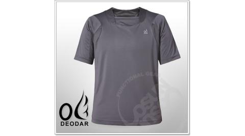 【DEODAR】動感網狀透氣椰炭紗男圓領衫.抗UV.快速排汗.透氣舒適.輕量化/ 鐵灰 21A00188-98