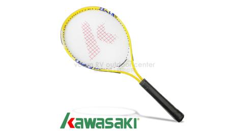 【日本 KAWASAKI】川崎 MARIA 複合強化鋁合金網球拍(短握) 25吋.嬌小女生/兒童/初學專用_黃 KP725YL
