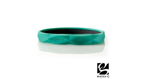 MASSA-G【Argyle炫彩之環-綠】鍺鈦手環