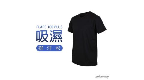 HODARLAFLARE100PLUS男女吸濕排汗衫短T短袖T恤台灣製黑3153701