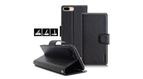XM iPhone X 5.8吋 品味時尚牛皮支架皮套