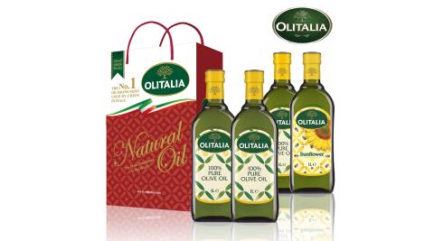 【Olitalia奧利塔】義大利油品雙享特惠組-橄欖油禮盒x1+葵橄油禮盒x1
