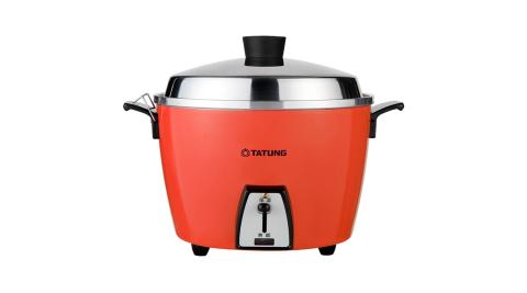 【TATUNG大同】6人份不鏽鋼電鍋-紅色 TAC-06L-DRU