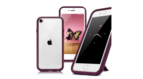 Thunder X 第二代 iPhone SE2 4.7吋 防摔邊框手機殼-紫色
