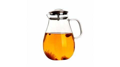 不鏽鋼濾網蓋水滴型玻璃壺1900ml(BY-TB01)