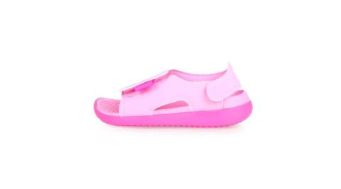 NIKE SUNRAY ADJUST 5-GS/PS 女大童涼鞋-海灘 戲水 淺紅桃紅@AJ9076601@