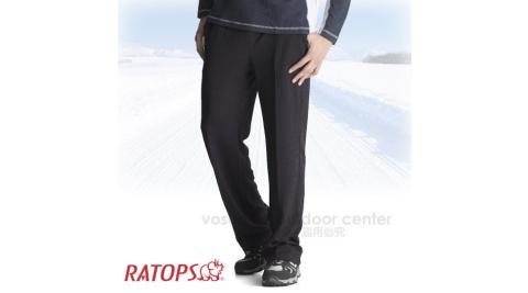 【瑞多仕-RATOPS】竹碳吸排保暖褲(素色) / 輕爽.舒適.蓄熱保溫.吸濕排汗. DB5529 墨藍色