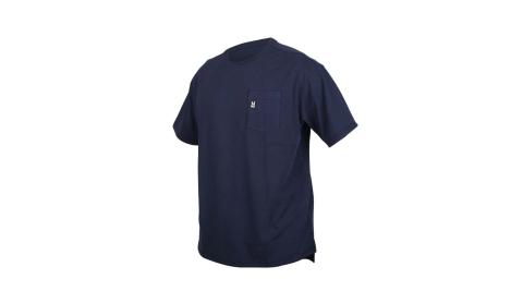 MIZUNO 男1906系列短袖T恤-休閒 慢跑 台灣製 美津濃 丈青黑白@D2TA000114@