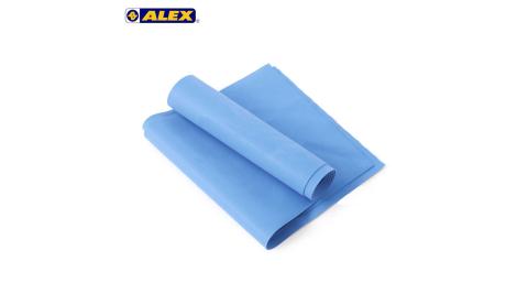 ALEX 伸展彈力帶厚度0.65MM-瑜珈繩 健身阻力帶 彈力繩 拉力帶 訓練帶 藍@C-4702@