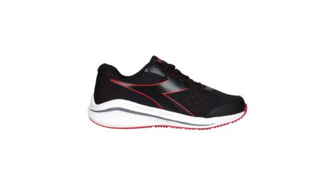 DIADORA 男專業輕量慢跑鞋-E寬楦-路跑 運動 黑紅@DA71171@