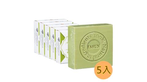 【瘋狂↘5折】琺頌-緊膚天然皂-橄欖葉 110g x 5個