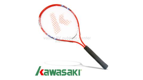 【日本 KAWASAKI】川崎 MARIA 複合強化鋁合金網球拍(短握) 25吋.嬌小女生/兒童/初學專用_紅 KP725RD