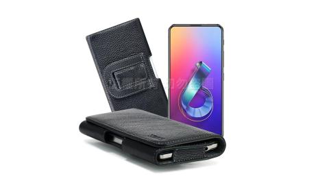 Xmart for 華碩 ASUS ZenFone 6 ZS630KL 麗緻真皮腰掛皮套