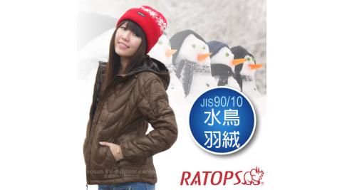 【瑞多仕-RATOPS】女20丹超輕羽絨衣.羽絨外套.保暖外套.雪衣 / 防風、防潑水_RAD358 咖啡色