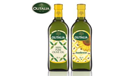【Olitalia奧利塔】單罐9罐組(橄欖x5罐+葵花x4罐/1000ml/罐)