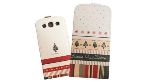 HAPPYMORI SAMSUNG GALAXY S3 聖誕快樂 掀蓋式皮套