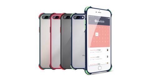 Xmart for iPhone 8 Plus / iPhone 7 Plus 5.5吋 完美四角防撞磨砂手機殼