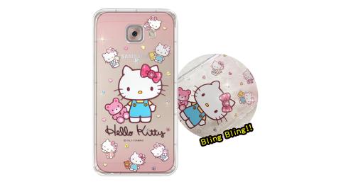 三麗鷗授權 Hello Kitty Samsung Galaxy J7 Max 夢幻童話 彩鑽氣墊保護殼(愛戀小熊)