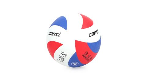 conti 5號頂級超世代橡膠排球 紅藍白@V990-5-RWB@