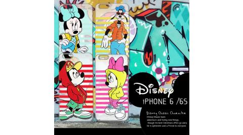 迪士尼授權正版 iPhone6 / 6s i6s (4.7吋) 街頭系列透明軟式手機殼