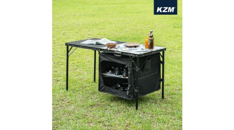 【KAZMI】 KZM IMS鋼網餐櫥折疊桌含收納袋 廚房 露營廚房 桌子