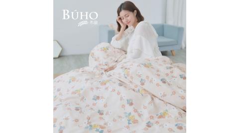 BUHO《春美日好》雙人加大四件式舖棉兩用被床包組