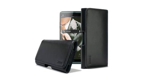 XM HTC U Ultra / G6 / ZenFone AR / OPPO A59 型男羊皮橫式腰掛皮套