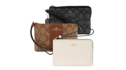COACH 人氣熱銷經典LOGO/素面款手拿包(多款可選)