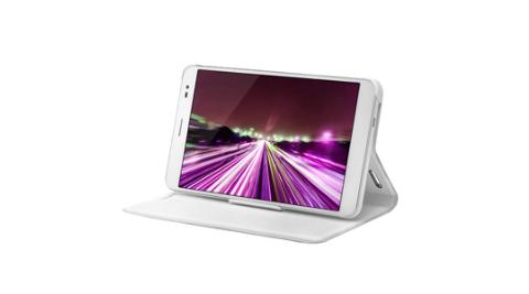HUAWEI MediaPad X1 / 榮耀X1 原廠 開窗式側掀站立式皮套(白色)