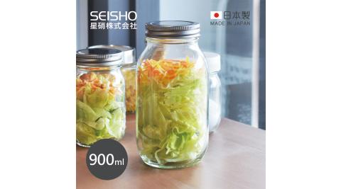 【日本星硝SEISHO】日製經典玻璃密封儲物罐-900ml