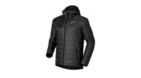 【瑞士ODLO】525162 男款 primaloft 長效保暖防風防潑水保暖外套(石墨灰) 雙面可穿