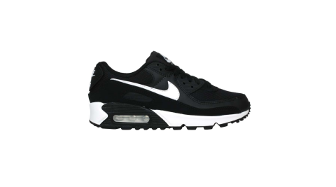 NIKE W AIR MAX 90 女運動休閒鞋-氣墊 皮革 經典 慢跑 訓練 黑白@CQ2560001@