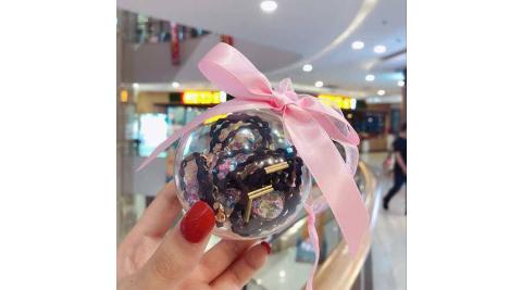 【Nick Shop】韓式玻璃球髮圈流行髮飾(3入組)