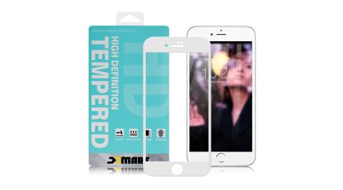 Xmart for iPhone 6S plus / 6plus 用 高透光2.5D滿版玻璃貼- 白 2入