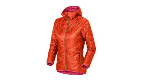 【瑞士ODLO】525161 女款 primaloft 長效保暖防風防潑水保暖外套(桔紅) 雙面可穿