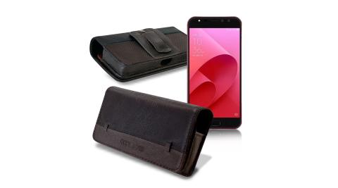 CB ASUS ZenFone 4 Selfie Pro ZD552KL 5.5吋 品味柔紋橫式腰掛皮套