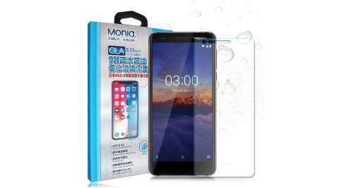 MONIA Nokia 3.1 日本頂級疏水疏油9H鋼化玻璃膜 玻璃保護貼(非滿版)