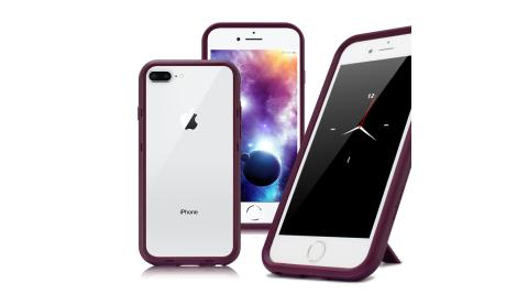 Thunder X iPhone 8 Plus / 7 Plus 防摔邊框手機殼-紫