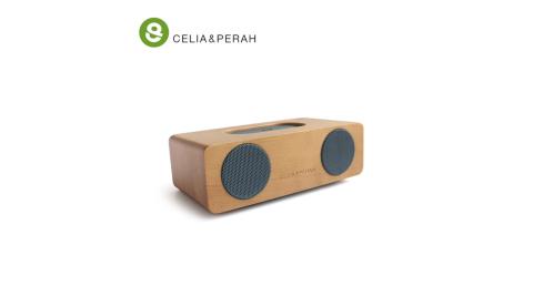 【CELIA&PERAH】M2 無線藍牙高傳真實木音響 (山毛櫸焦糖色)