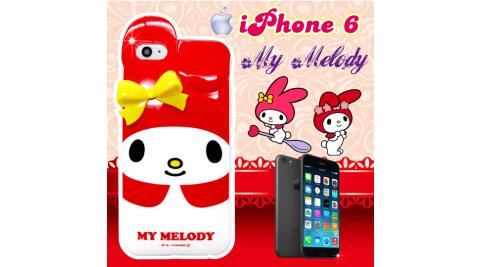 my melody正版授權 IPHONE 6 4.7吋 立體蝴蝶結保護殼 背蓋(紅美樂蒂)