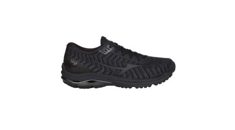 MIZUNO WAVE RIDER 24 WAVEKNIT 男慢跑鞋-美津濃 黑淺藍@J1GC207509@