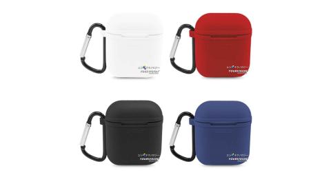 最新完美套裝 AirPods 耳機盒強化防滑保護套+柔軟防丟耳機繩(附掛勾)