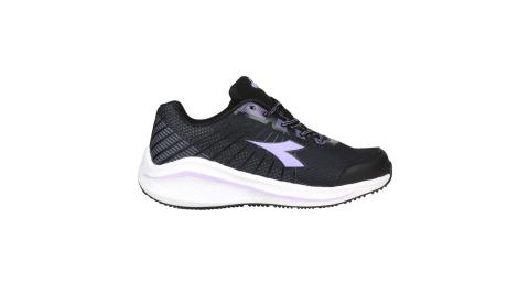 DIADORA 女專業輕量慢跑鞋-路跑 運動 黑粉紫@DA31629@