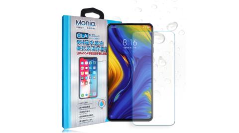 MONIA 小米MIX 3 日本頂級疏水疏油9H鋼化玻璃膜 玻璃保護貼(非滿版)