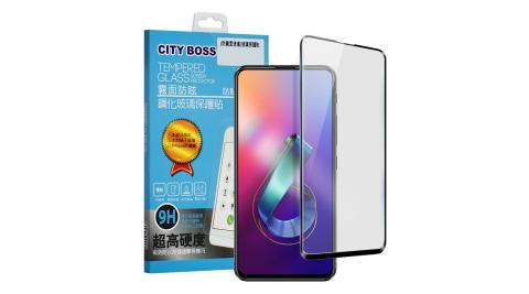 CITYBOSS for 華碩 ASUS ZenFone 6 ZS630KL 霧面防眩鋼化玻璃保護貼-黑
