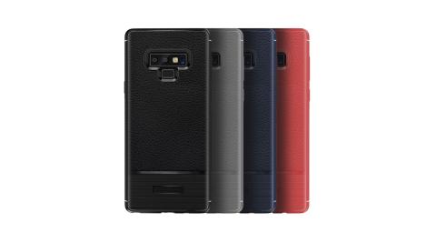 VXTRA 三星 Samsung Galaxy Note9 防滑手感皮紋 軟性手機殼